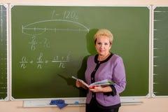Mature teacher royalty free stock photography
