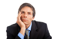 Mature thoughtful businessman Stock Photo