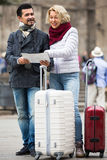 Mature tourists couple outdoor Royalty Free Stock Photography