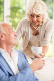 Mature wife with husband Royalty Free Stock Images