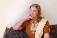 Mature woman. royalty free stock image