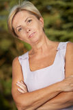 Mature woman royalty free stock image