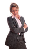 Mature woman. Senior business woman (on fifties) standing with positive attitude Stock Image