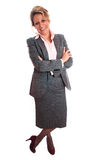 Mature woman. Senior business woman (fifties) standing with positive attitude Stock Photography