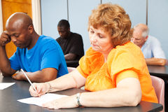 Mature Woman - Adult Education. Mature women in diverse adult education class stock photography