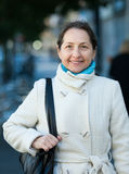 Mature woman  in autumn Stock Photos