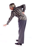 Mature Woman with Back Pain Royalty Free Stock Photo