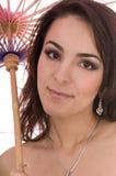 Mature woman beauty stock image