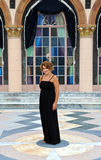 Mature Woman in Black Dress Royalty Free Stock Photos