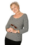 Mature woman in casual Royalty Free Stock Photos