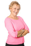 Mature woman in casual red Royalty Free Stock Images