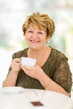 Mature woman coffee Royalty Free Stock Photo