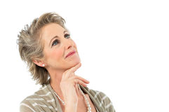 Mature Woman Contemplating Royalty Free Stock Image