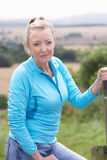 Mature Woman On Country Walk Stock Images