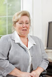 Mature woman crying Stock Image