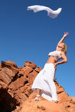 Mature woman dancing Royalty Free Stock Photo