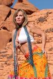 Mature woman dancing Royalty Free Stock Image