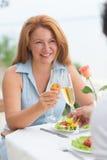 Mature woman dating Stock Photos