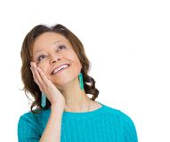 Mature woman daydreaming Royalty Free Stock Images