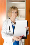 Mature woman doctor Stock Images