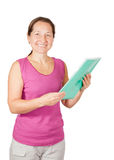 Mature woman with  documents Stock Images