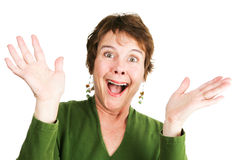Mature Woman - Ecstatic Stock Photos