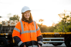 Mature woman - engineer portrait Royalty Free Stock Photos