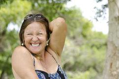 Mature Woman enjoying Happy Lifestyle Royalty Free Stock Photo