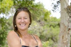Mature Woman enjoying Happy Lifestyle Stock Photo