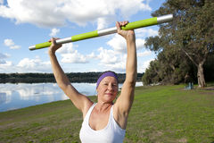 Mature Woman Exercises Royalty Free Stock Photo