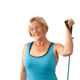 Mature woman exercising Royalty Free Stock Photo
