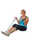 Mature woman exercising Royalty Free Stock Photos