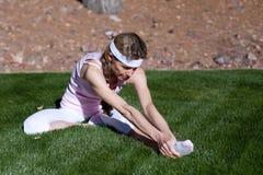 Mature woman exercising Stock Photos