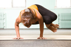 Mature woman exercising yoga Royalty Free Stock Photography
