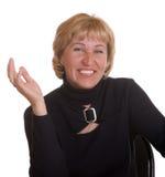 The mature woman expresses pleasure Stock Photos
