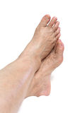 Mature woman foot Stock Photo