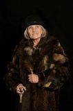 Mature woman in fur Royalty Free Stock Photo