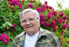 Mature woman gardener Stock Photo