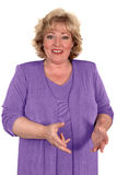 Mature woman gesturing Stock Photos