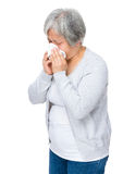 Mature woman got flu Stock Photography