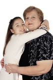 Mature woman with granddaughter Royalty Free Stock Photo