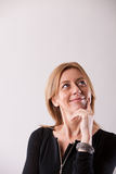 Mature woman with a great idea Stock Photography