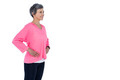 Mature woman with hand on hip Royalty Free Stock Photos