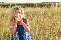 Mature woman with handkerchief outdoor Stock Photo