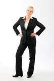 Mature woman with hands on her hips Royalty Free Stock Photography