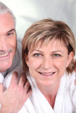 Mature woman and her husband Stock Photo
