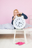 Mature woman with insomnia Royalty Free Stock Photography