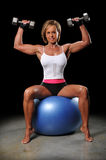Mature Woman Lifting Dumbbells Stock Images