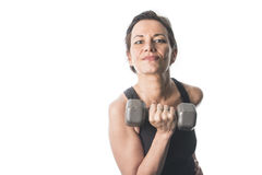 Mature woman lifting weights Stock Photography