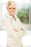 Mature woman looking Stock Image
